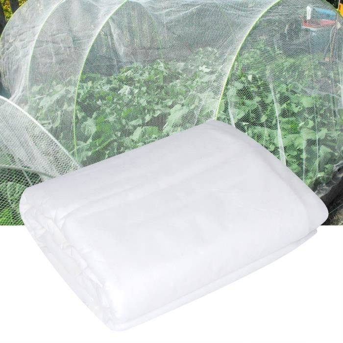 Couverture de filet anti-insectes, 56,3 X 8,3 po Kit de filet anti-oiseaux pour protection de fruits à légumes, filet