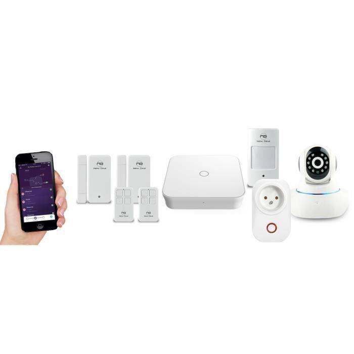 NEW DEAL Pack Alarme maison Live Pro-L15 Domovision sans fil connectée