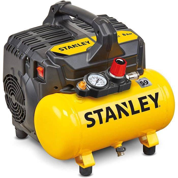 Compresseur Stanley DST 100-8-6 Compresseur silencieux 59 dB, B2BE104STN703, Giallo Stanley4