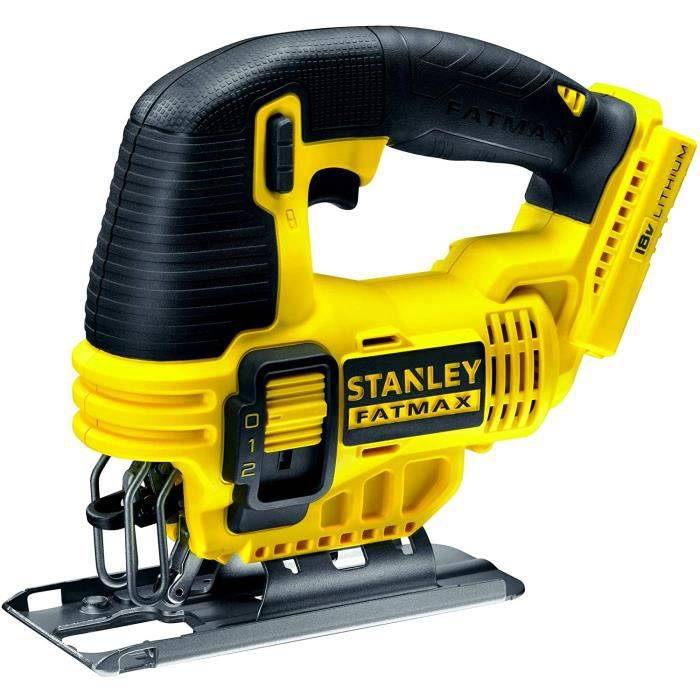 Stanley Fatmax FMC650B-Xj - Scie Sauteuse 18V Lithium Ion - Plus R&eacutesistant; - Ergonomique - Changement Rapide De Lame - 166