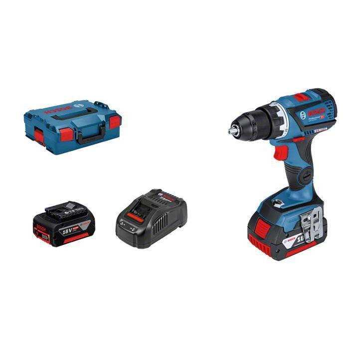 Bosch GSR 18 V 60 C professional perceuse visseuse 2 batteries 18 V 5 Ah simply connnected L-Boxx - 06019G1100