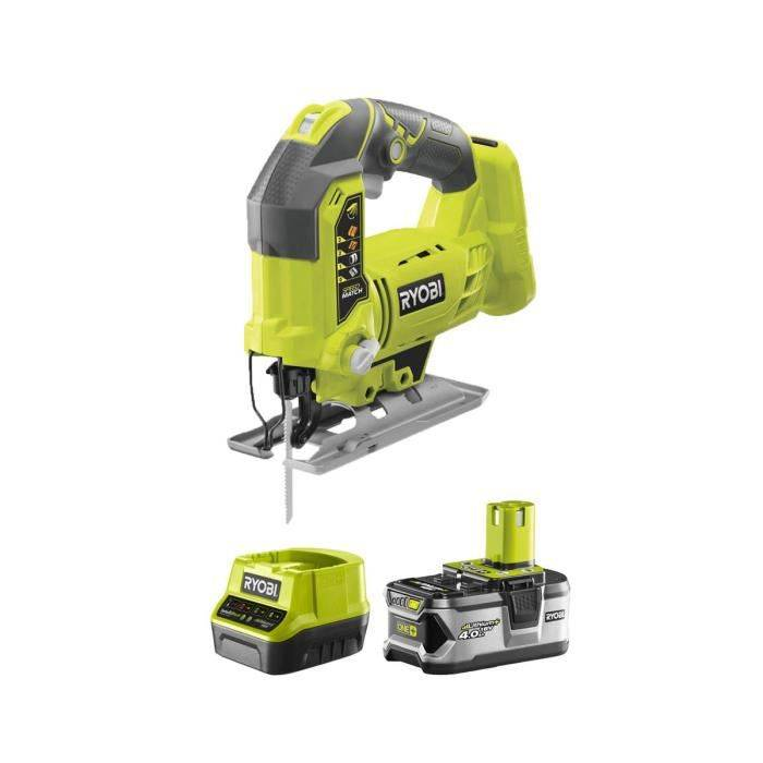 RYOBI Pack RYOBI Scie sauteuse pendulaire 18V OnePlus R18JS-0 - 1 batterie 5.0Ah - 1 chargeur rapide 2.0Ah RC18120-150
