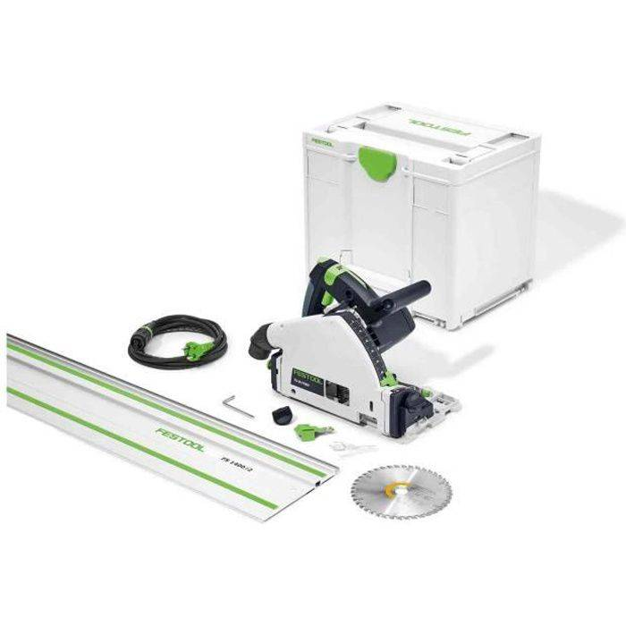 FESTOOL Scie plongeante FESTOOL TS 55 FEBQ-Plus-FS - Avec lame Ø160 mm Wood + Rail FS1400/2 + Systainer SYS3 M 337 - 577010