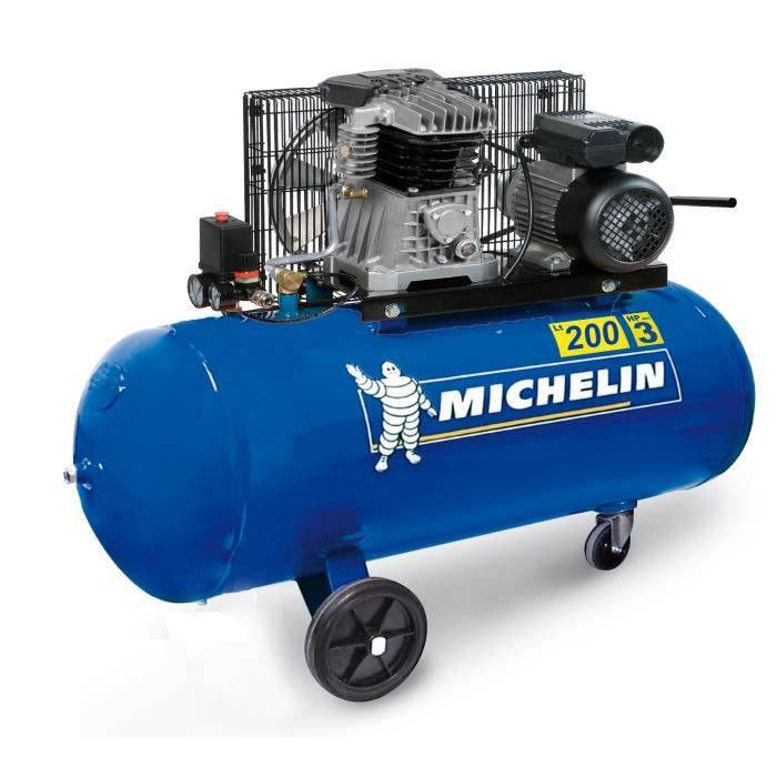 MICHELIN Compresseur 200L courroie 3CV 10 bars 230V MCX 200