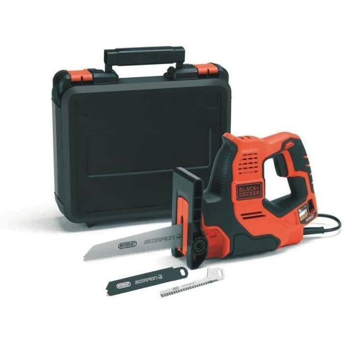 LAME DE DECOUPE BLACK+DECKER RS890K-QS Scie à main filaire - Capacit&eacutes; de coupe : 3 mm m&eacutetal,; 100 mm bois, 184