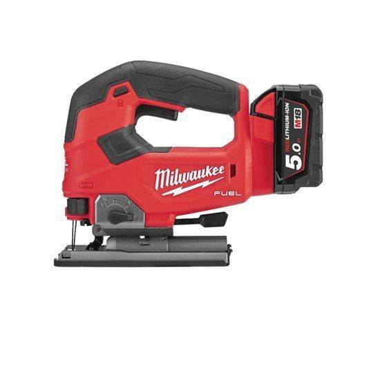 MILWAUKEE Scie sauteuse poignée MILWAUKEE M18 FJS-502X - 2 batteries 5.0 Ah - 1 chargeur - 4933464727