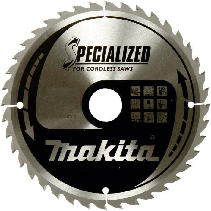 MAKITA Lame de scie circulaire au carbure Makita SPECIALIZED B-32910 165 x 20 x 1 mm Nombre de dents: 24 1 pc(s)