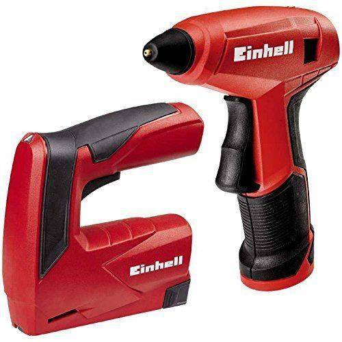 Einhell Machines Kit TC Outils de TK 3,6Li, Lithium-Ion, 3,6V, agrafeuse, pistolet à colle, inklusivive Chargeur, 1000agrafes,
