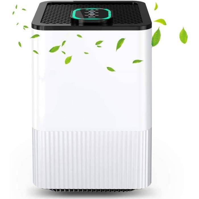DESHUMIDIFICATEUR D AIR Purificateur d'Air 4-en-1 avec R&eacuteel; Filtre HEPA & Ioniseur, Filtre à Air Domestique avec In11