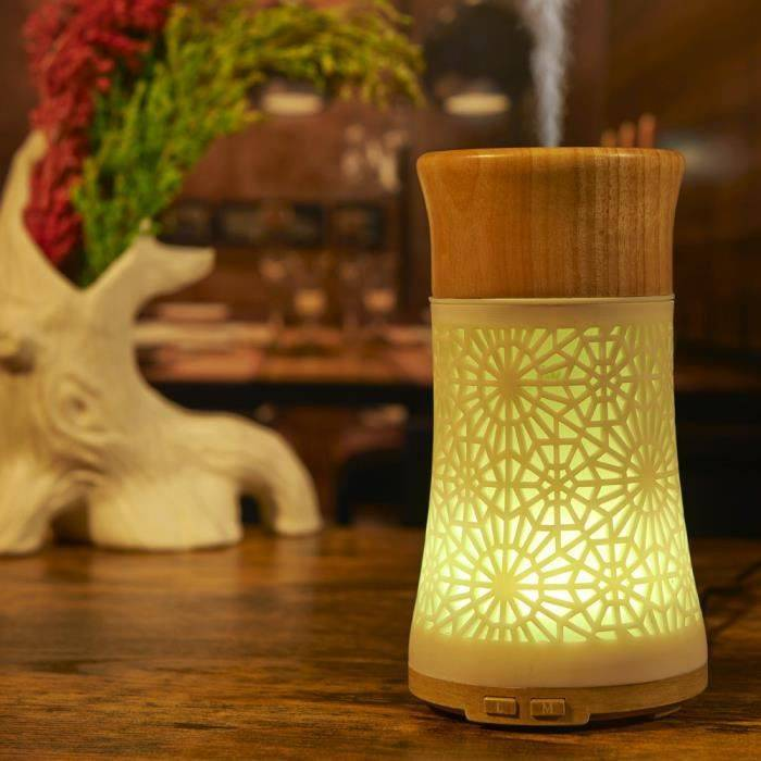 LED Aroma Diffuseur huile essentielle à ultrasons Purificateur d'air Humidificateur Atomiseur miettelove331