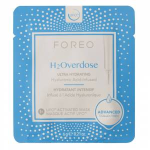 Foreo H2Overdose UFO/UFO mini Ultra Hydrating Face Mask for Dry Skin 6pices - Publicité