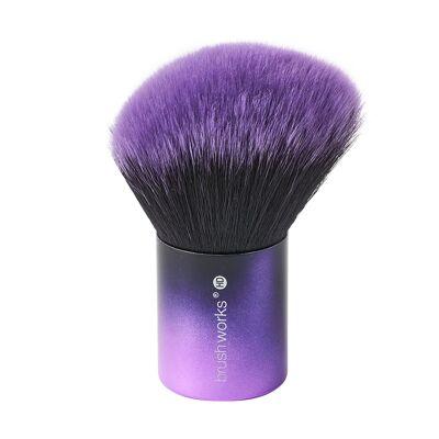 Un pinceau kabuki biseaut.Crez un fini arien avec le pinceau kabuki biseaut HD de Brushworks. Ce pinceau poudre court et large permet dappliquer et destomper facilement la poudre. Idales pour appliquer le fond de teint; le bronzer; la poudre et le blush sur la peau; les fibres synthtiques de premire qualit