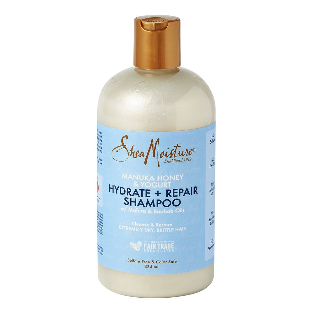 Shea Moisture Manuka Honey & Yogurt Hydrate + Repair Shampoo 384ml