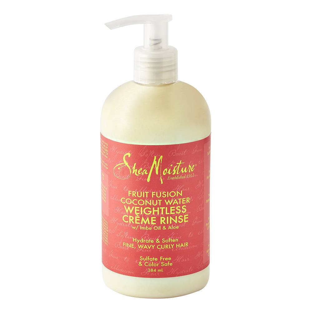 Shea Moisture Fruit Fusion Coconut Water Weightless Crme Rinse Conditioner 384ml