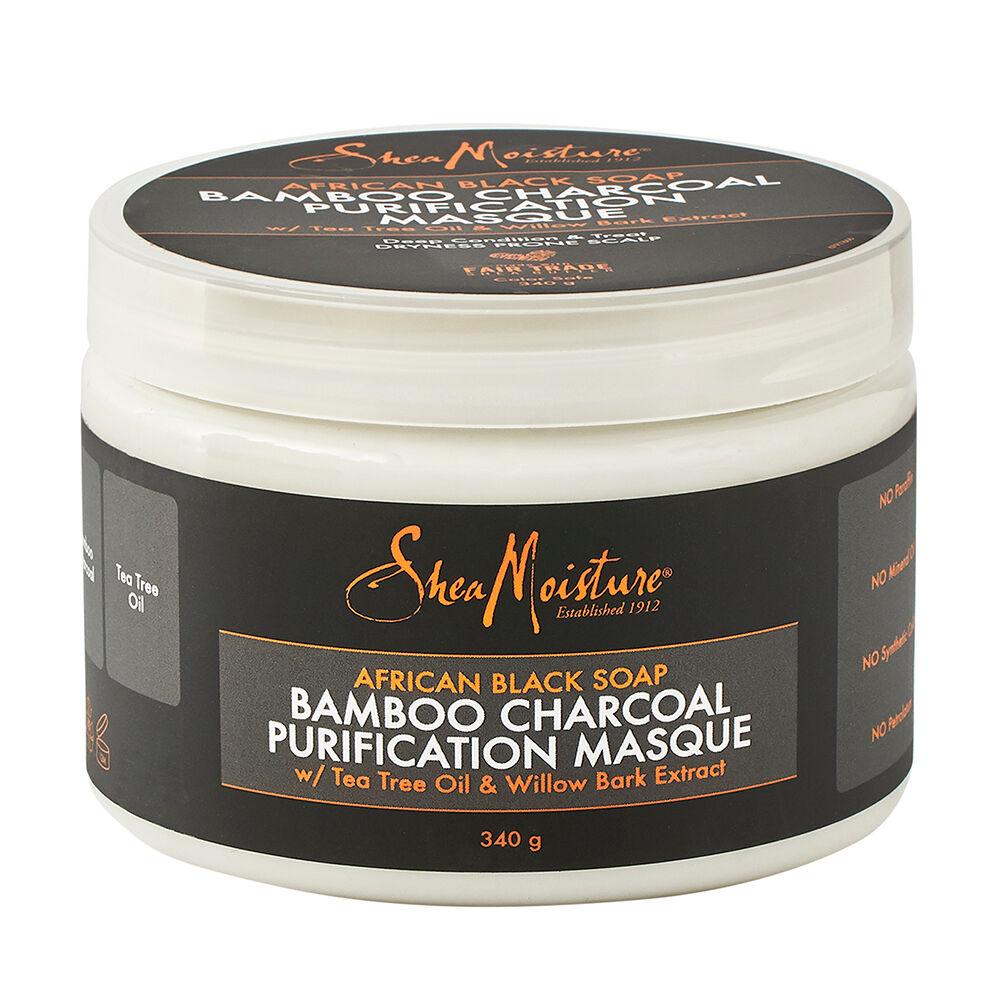 Shea Moisture African Black Soap Bamboo Charcoal Purification Masque 354ml