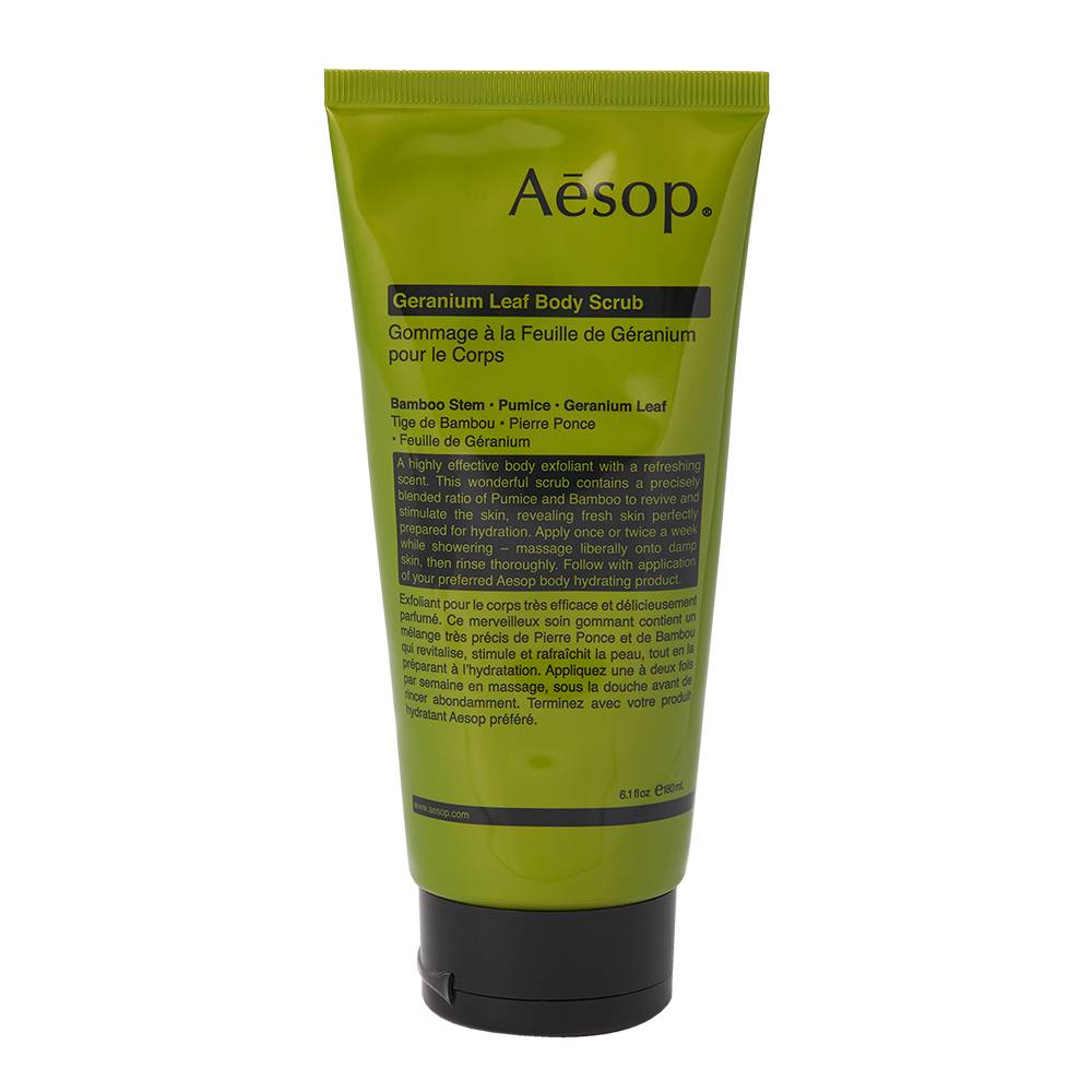 Asop Geranium Leaf Body Scrub 180ml