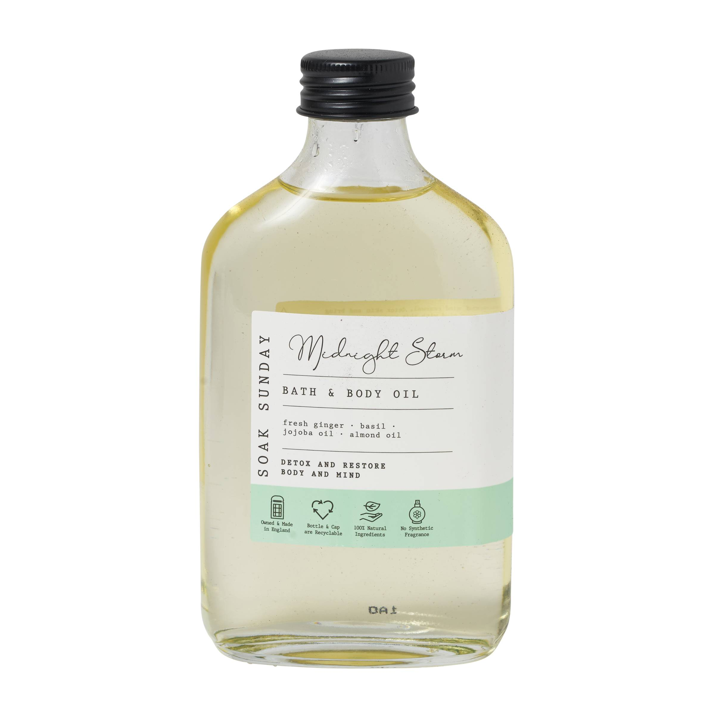 Soak Sunday Midnight Storm Bath & Body Oil 200ml