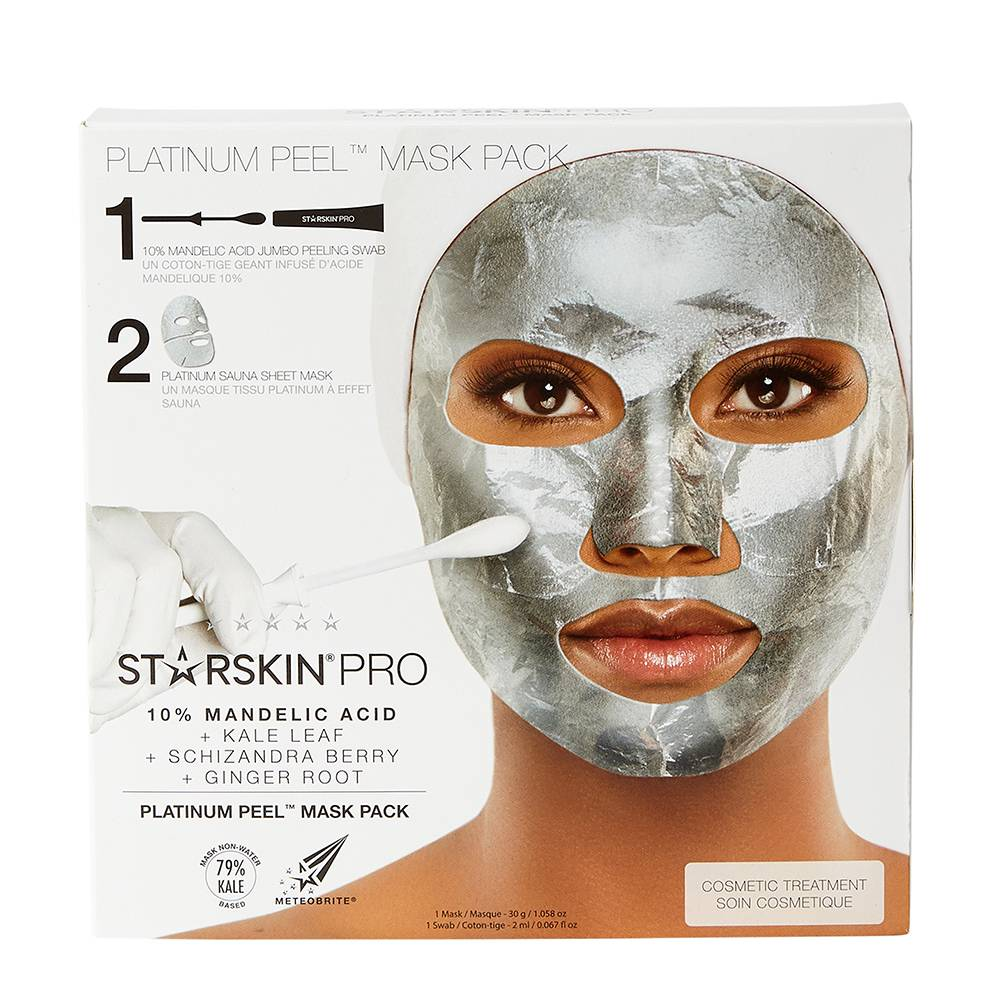 STARSKIN Platinum Peel Foil Sheet Mask And Peeling Swab