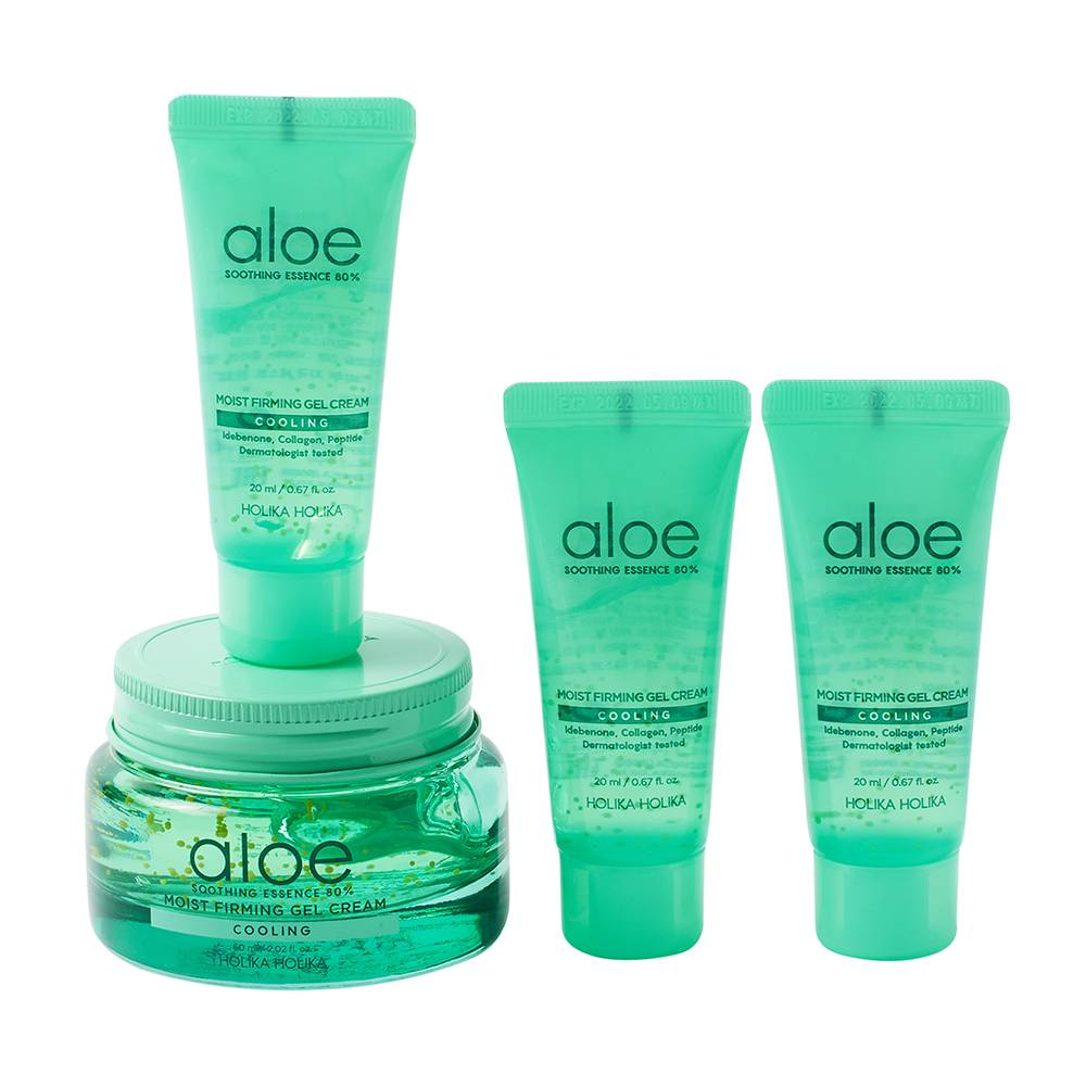 Holika Holika Aloe Soothing Essence 80% Moist Firming Gel Cream Set 120ml