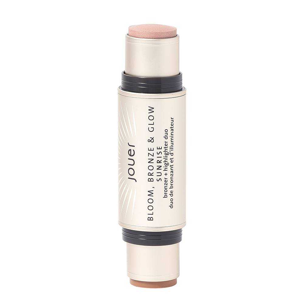 Jouer Cosmetics Bloom; Bronze & Glow Bronzer + Highlighter Duo Sunrise