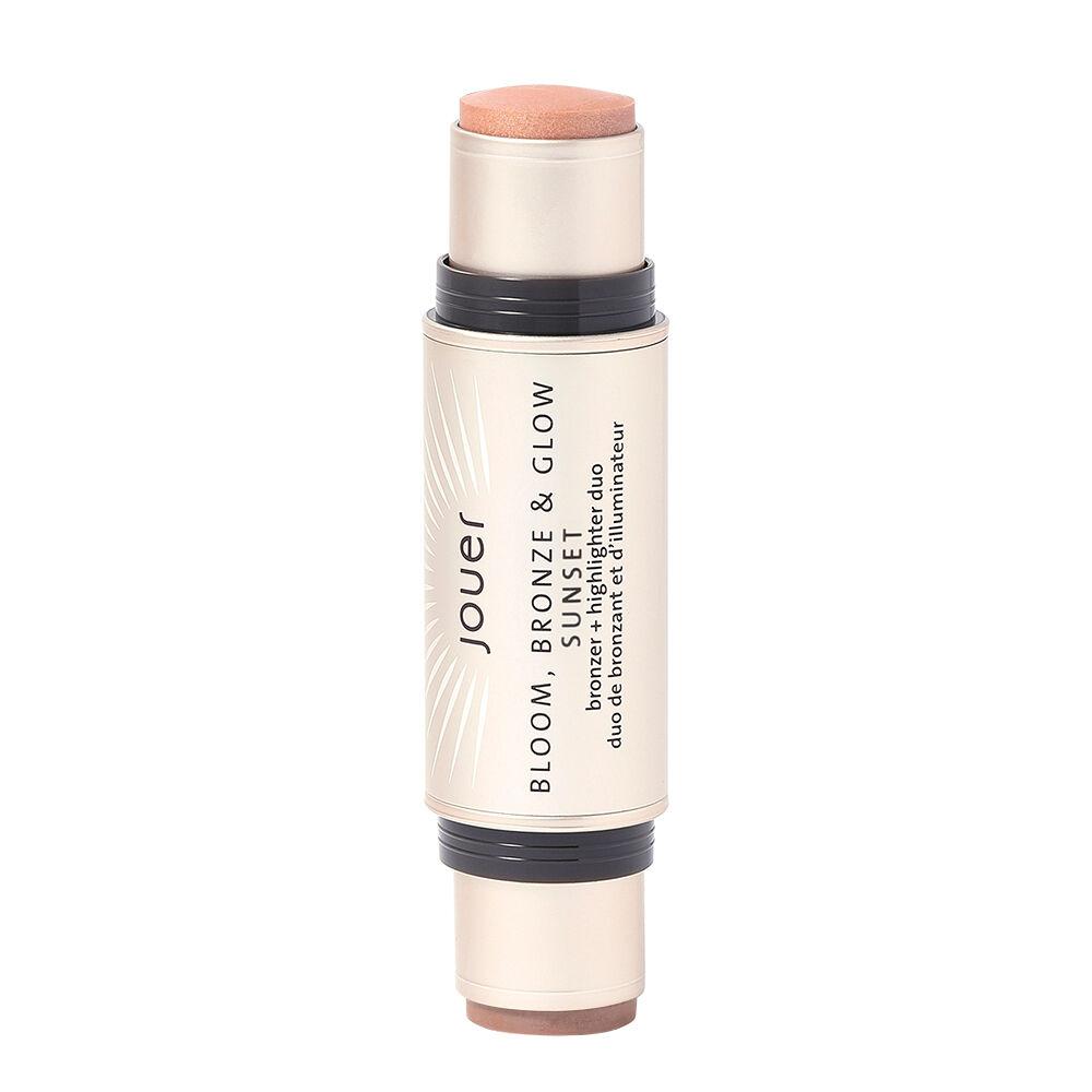 Jouer Cosmetics Bloom; Bronze & Glow Bronzer + Highlighter Duo Sunset