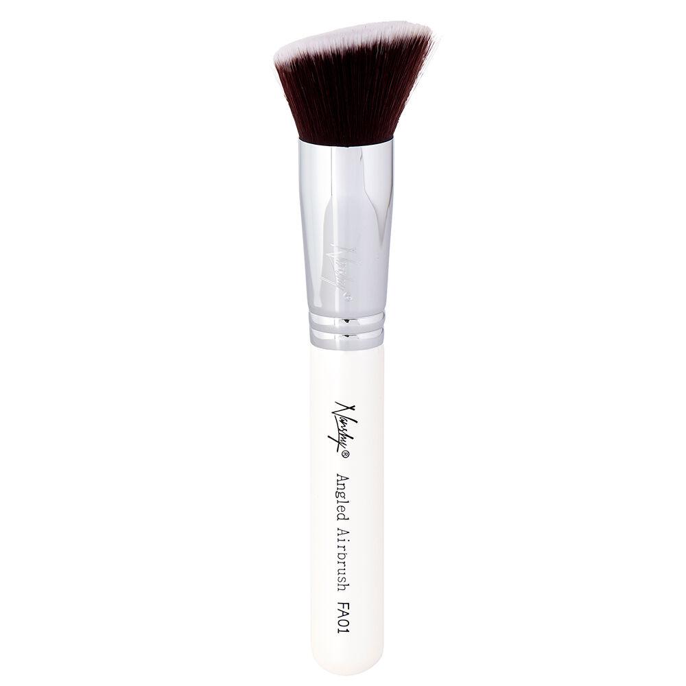 Nanshy FA01 Angled Airbrush Flat Angled Brush Pearlescent White