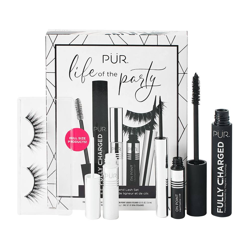 PUR Life Of The Party Mascara; Liner And Lash Set