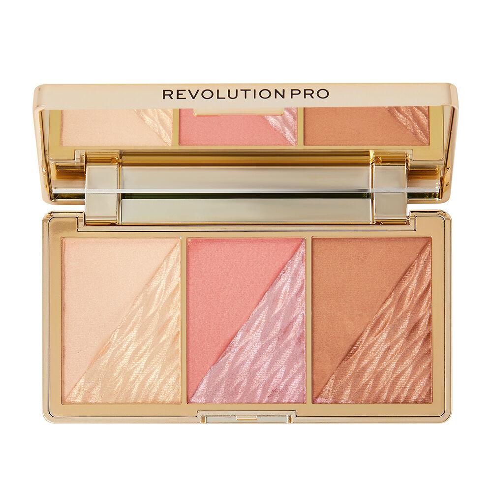 Revolution Pro Crystal Luxe Face Palette Rose Fresco