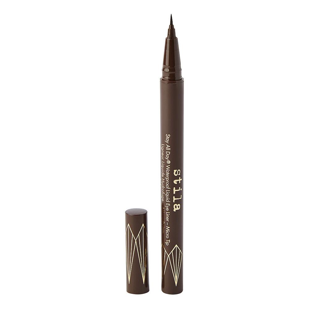 Stila Stay All Day Waterproof Liquid Eye Liner Micro Tip Dark Brown 0.5ml