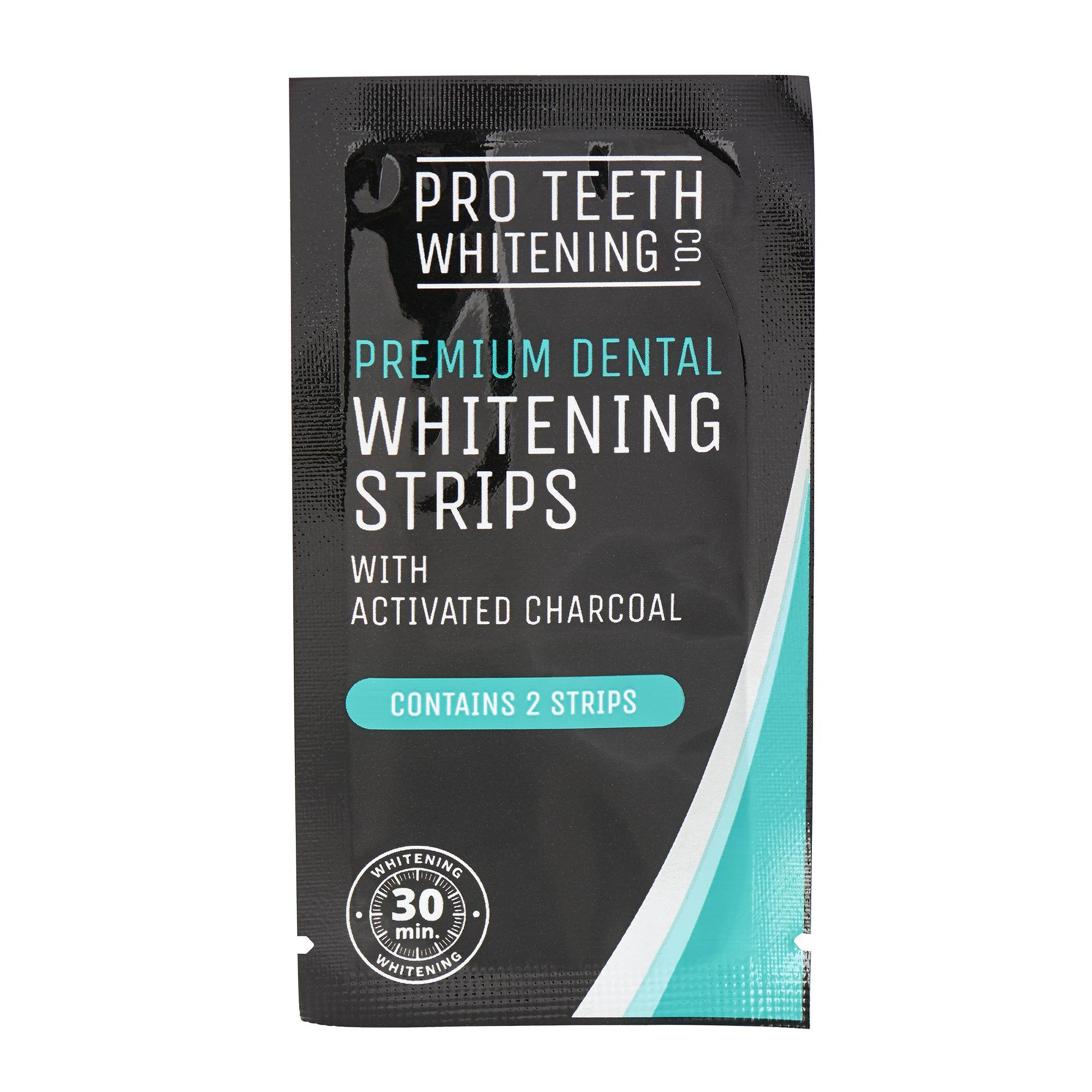 PRO TEETH WHITENING CO. Activated Charcoal Teeth Whitening Strips 30g