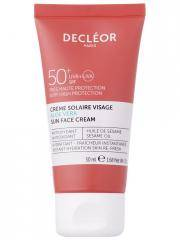 Decléor Crème Solaire Visage Aloe Vera SPF50+ 50 ml - Tube 50 ml