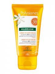 Klorane Polysianes Crème Solaire Sublime au Tamanu Bio et Monoï SPF30 50 ml - Tube 50 ml