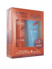 Noreva Bergasol Expert Brume Solaire SPF50+ 150 ml + Lait Après-Soleil Visage et Corps 100 ml Offert - Coffret 2 produits