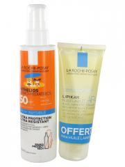 La Roche-Posay Anthelios Dermo-Pediatrics Spray Invisible SPF50+ Sans Parfum 200 ml + Lipikar Huile Lavante AP+ 100 ml Offerte - Lot 200 ml + 100 ml