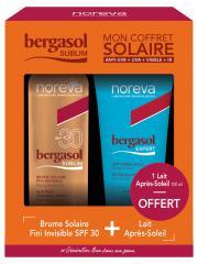 Noreva Bergasol Sublim Brume Solaire SPF30 150 ml + Expert Lait Après-Soleil Visage et Corps 100 ml Offert - Coffret 2 produits
