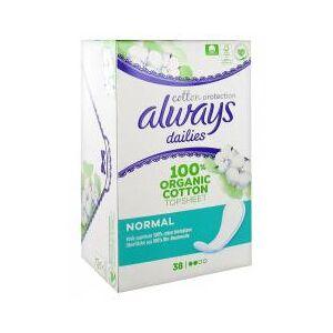 Always Dailies Protection Slip Normal Coton Bio x38 - Boîte 28 serviettes - Publicité