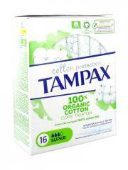 Tampax Cotton Protection Super 100% Coton Bio 16 Tampons - Boîte 16 tampons