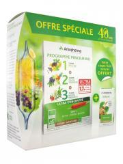 Arkopharma Arkofluides Programme Minceur Bio + Arkogélules Konjac 45 Gélules Offertes - Boîte 30 ampoules de 10 ml + 45 gélules