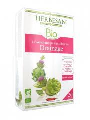 Herbesan Bio Artichaut Drainage 20 Ampoules de 15 ml - Boîte 20 ampoules x 15 ml