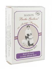 Maison Berthe Guilhem Savon Surgras Bio Beurre de Karité Lavande Officinale Fleurs 100 g - Boîte 100 g