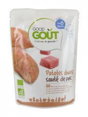 Good Goût Patates Douces Sauté de Porc dès 6 Mois Bio 190 g - Sachet 190 g