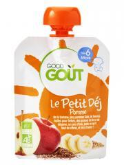 Good Goût Le Petit Déj Pomme dès 6 Mois Bio 70 g - Gourde 70 g