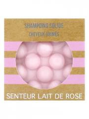 Valdispharm Shampoing Solide Cheveux Abîmés Senteur Lait de Rose 55 g - Pain 55 g