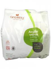 Argiletz Argile Verte Surfine 1 Kg - Sachet 1000 g