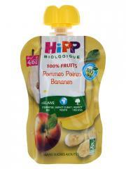 HiPP 100% Fruits Gourde Pommes Poires Bananes dès 4/6 Mois Bio 90 g - Gourde 90 g