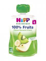 HiPP 100% Fruits Gourde Poires Bananes Kiwis dès 6 Mois Bio 90 g - Gourde 90 g