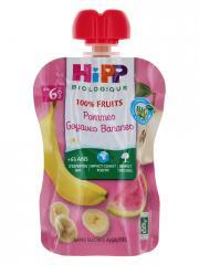 HiPP 100% Fruits Gourde Pommes Goyaves Bananes dès 6 Mois Bio 90 g - Gourde 90 g