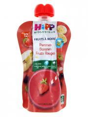 HiPP Fruits à Boire Pommes Bananes Fruits Rouges dès 12 Mois Bio 120 ml - Gourde 120 ml