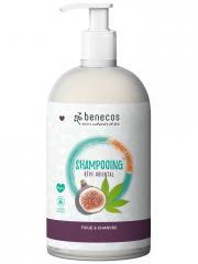 Benecos Shampoing Figue et Chanvre 950 ml - Flacon-Pompe 950 ml