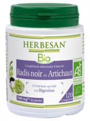 Herbesan Bio Radis Noir Artichaut 120 Comprimés - Pot 120 Comprimés
